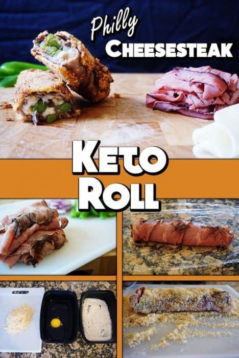 Philly Cheesesteak Keto Roll!  Enjoy this diabolical Keto creation.