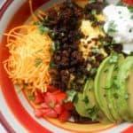 mexican breakfast bowl overhead2