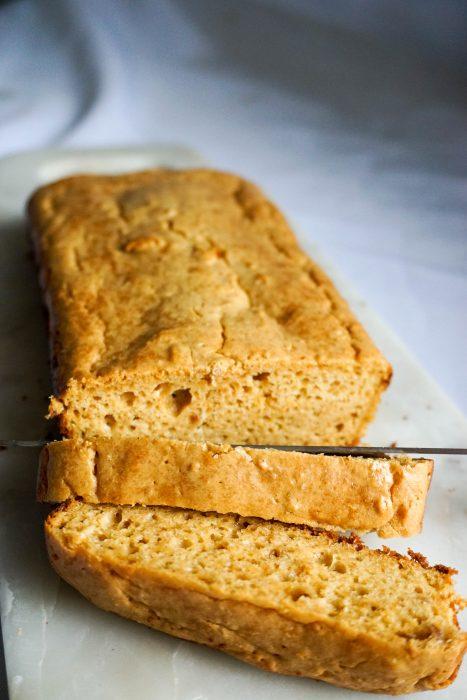 cream cheese bread cut