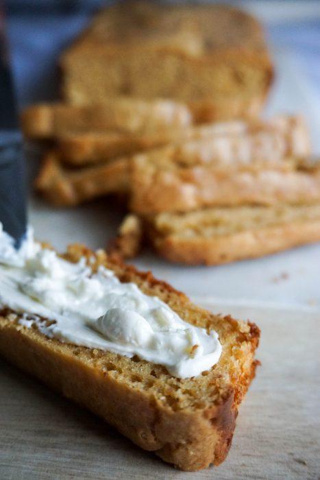 cream cheese bread spreading
