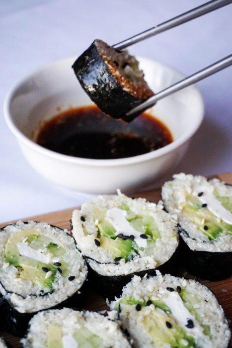 keto sushi final dip