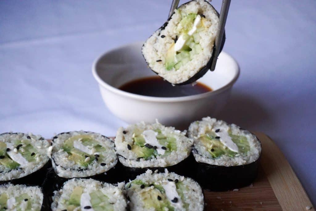 keto sushi horizontal dip
