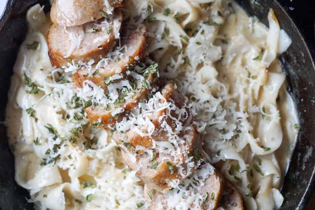 low carb pasta horizontal close